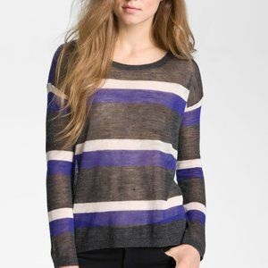 Joie Rosalie Alpaca Semi sheer stripe sweater
